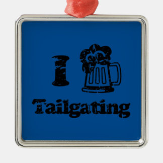 I Heart Tailgating with Beer Mug - Any Team Colors Christmas Tree Ornament