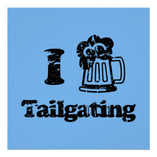 I Heart Tailgating with Beer Mug - Any Team Colors Print