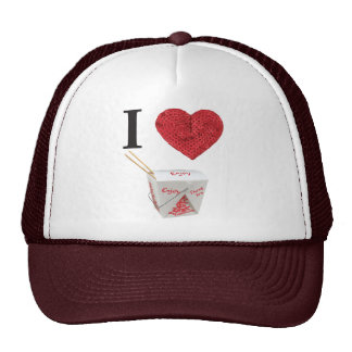 i heart takeout hat