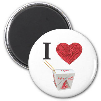 i heart takeout refrigerator magnet