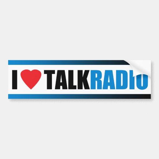 I Heart Talk Radio Car Bumper Sticker