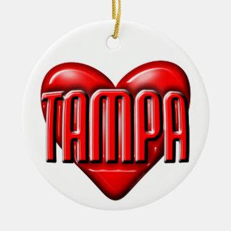I Heart Tampa Ceramic Ornament