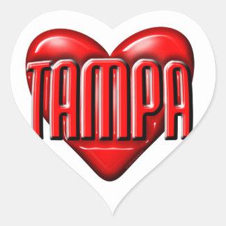 I Heart Tampa Heart Sticker