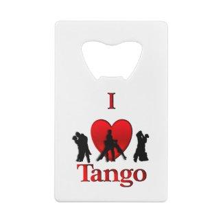 I Heart Tango Credit Card Bottle Opener