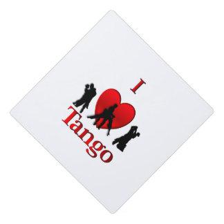I Heart Tango Graduation Cap Topper