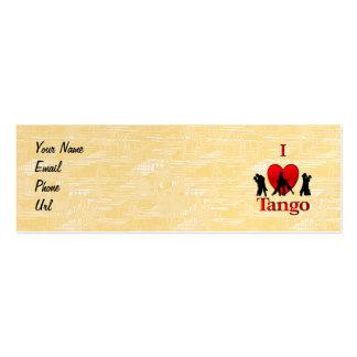 I Heart Tango Mini Business Card