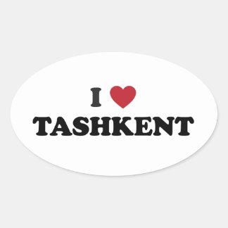 I Heart Tashkent Uzbekistan Oval Stickers