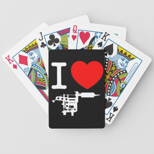 i heart tattoo products bicycle playing cards