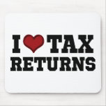 I Heart Tax Returns Mouse Pad