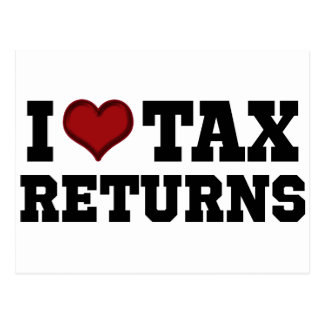 I Heart Tax Returns Postcard