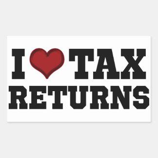I Heart Tax Returns Rectangular Sticker