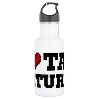I Heart Tax Returns Water Bottle