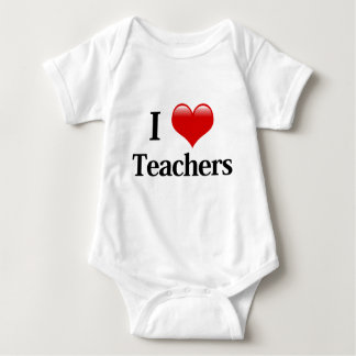 I Heart Teachers Baby Bodysuit
