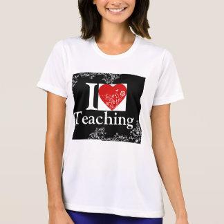 I heart Teaching - Cool floral design on back ! Shirt