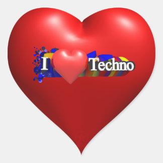 I heart Techno #1 by fameland Stickers