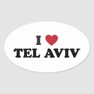 I Heart Tel Aviv Israel Oval Sticker