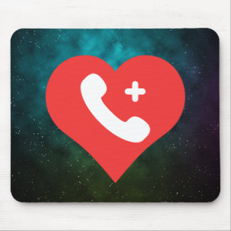 I Heart Telephone Parts Icon Mouse Pad