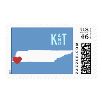 I Heart Tennessee - Customizable City Stamp