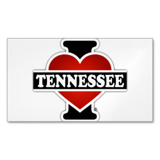 I Heart Tennessee Magnetic Business Card