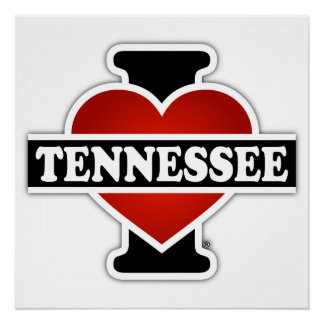 I Heart Tennessee Poster