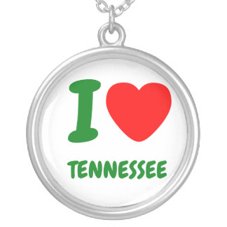 I HEART TENNESSEE ROUND PENDANT NECKLACE
