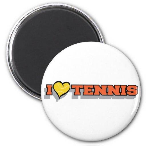 I Heart Tennis 2 Inch Round Magnet
