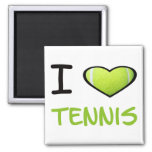 I heart Tennis 2 Inch Square Magnet