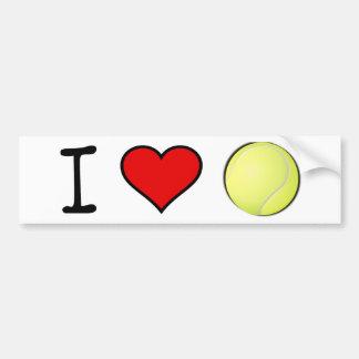 I HEART TENNIS BALL CAR BUMPER STICKER