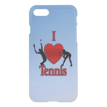 I Heart Tennis Blue Skies iPhone 7 Case