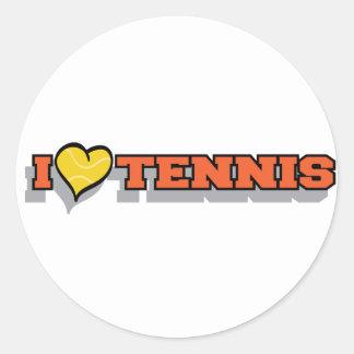 I Heart Tennis Classic Round Sticker