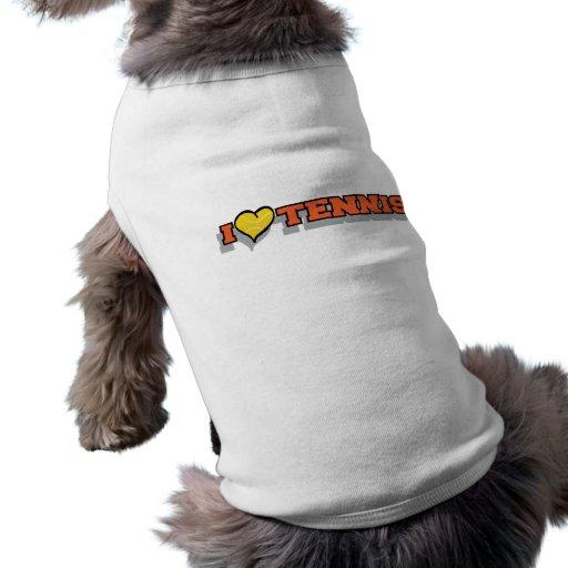 I Heart Tennis Dog Clothes
