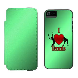 I Heart Tennis Green Glow iPhone SE/5/5s Wallet Case