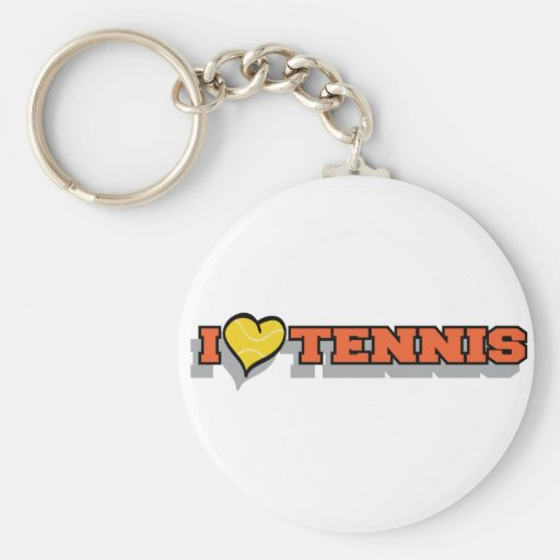 I Heart Tennis Keychains