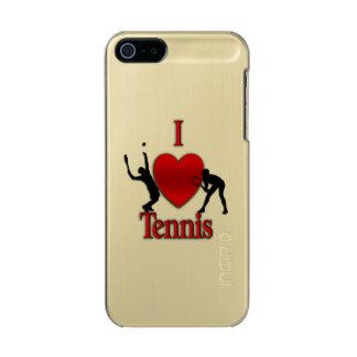 I Heart Tennis Metallic Phone Case For iPhone SE/5/5s