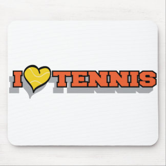 I Heart Tennis Mouse Pad