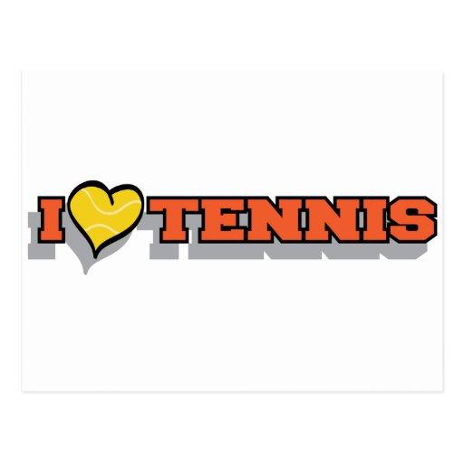 I Heart Tennis Postcard