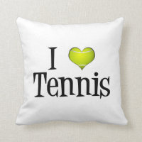 I Heart Tennis Throw Pillow