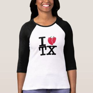 I Heart Texas Chili Peppers T-Shirt