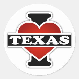 I Heart Texas Classic Round Sticker