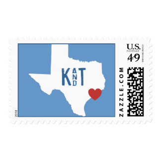 I Heart Texas - Customizable City Stamp