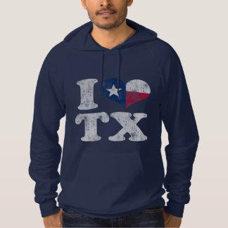 I heart Texas Flag TX Hoodie