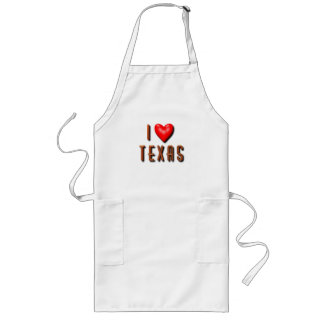 I Heart Texas Long Apron