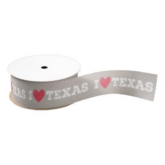 I Heart Texas Ribbon - White Letters