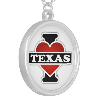 I Heart Texas Round Pendant Necklace