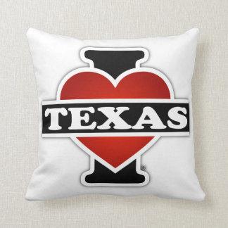 I Heart Texas Throw Pillow