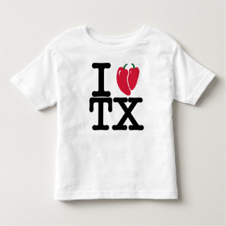 I heart Texas with Chilis for kids Toddler T-shirt