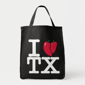 I heart Texas with chilis tote