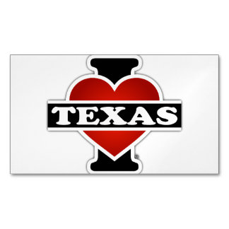 I Heart Texas Magnetic Business Cards (Pack Of 25)