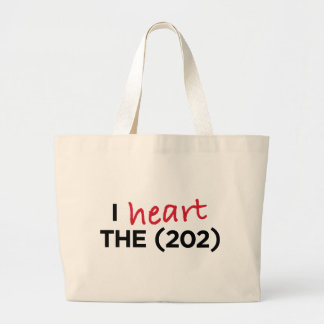 I heart the (202) canvas bags