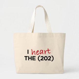 I heart the (202) jumbo tote bag